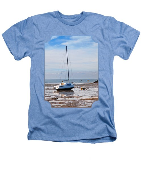 Waiting For High Tide Heathers T-Shirt by Gill Billington