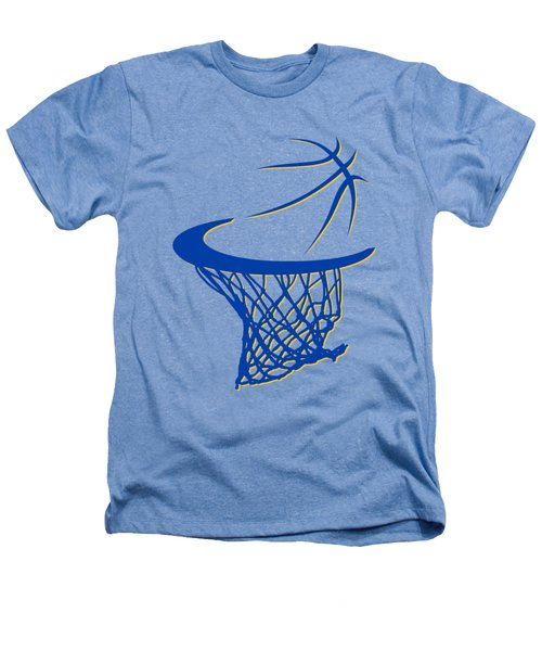 Warriors Basketball Hoop Heathers T-Shirt