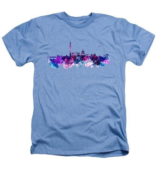 Washington Dc Skyline Heathers T-Shirt by Marian Voicu
