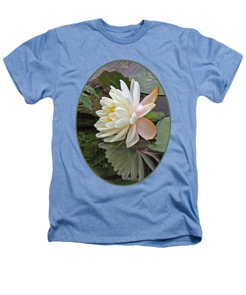 Water Lily Reflections Heathers T-Shirt by Gill Billington