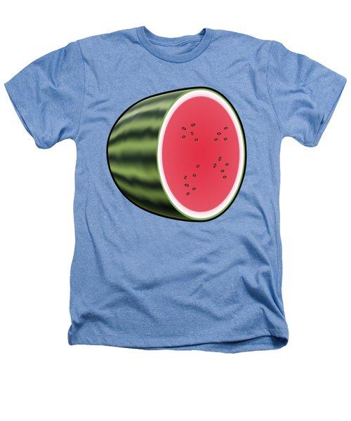 Water Melon Outlined Heathers T-Shirt by Miroslav Nemecek