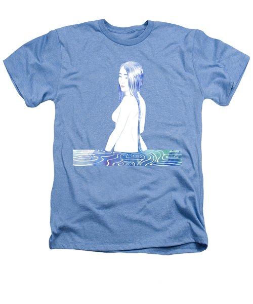 Water Nymph Xcii Heathers T-Shirt by Stevyn Llewellyn