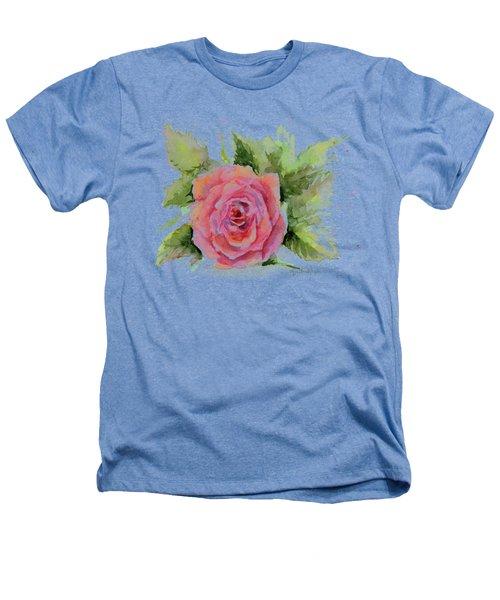 Watercolor Rose Heathers T-Shirt