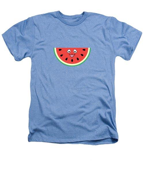 Watermelon Ornament Heathers T-Shirt by Alina Krysko