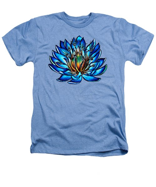 Weird Multi Eyed Blue Water Lily Flower Heathers T-Shirt