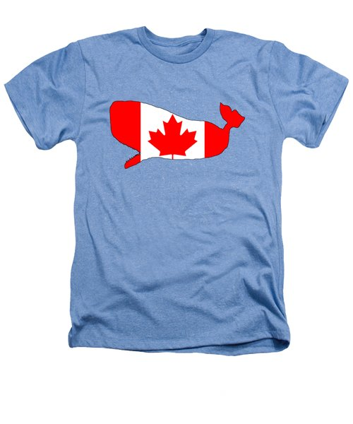 Whale Canada Heathers T-Shirt by Mordax Furittus