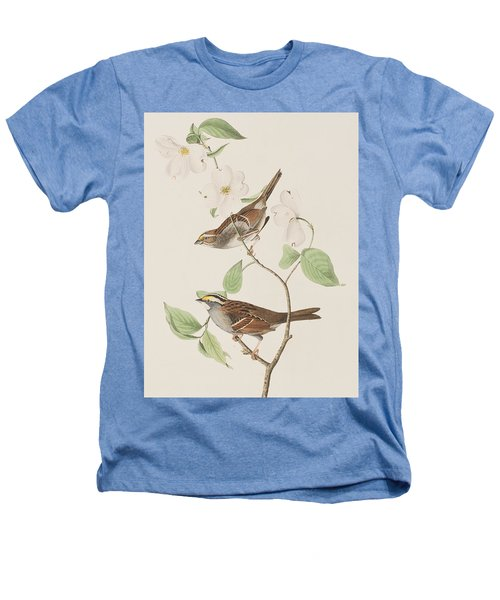 White Throated Sparrow Heathers T-Shirt by John James Audubon