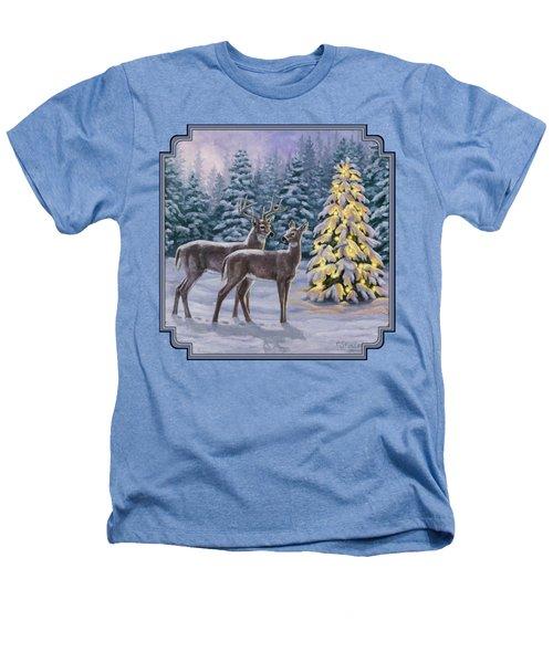 Whitetail Christmas Heathers T-Shirt