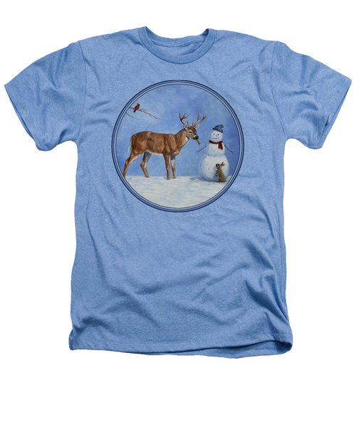 Whose Carrot Seasons Greeting Heathers T-Shirt by Crista Forest