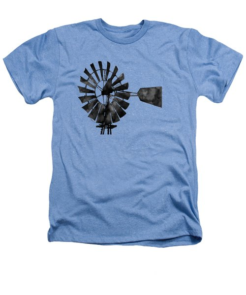Windmill In Black And White Heathers T-Shirt by Hailey E Herrera