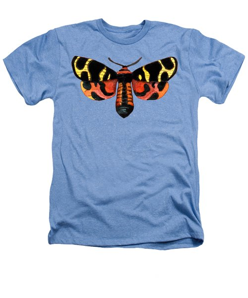 Winged Jewels 5, Watercolor Moth Black Yellow Orange And Red Tropical Heathers T-Shirt