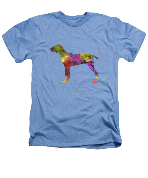 Wirehaired Slovakian Pointer In Watercolor Heathers T-Shirt by Pablo Romero