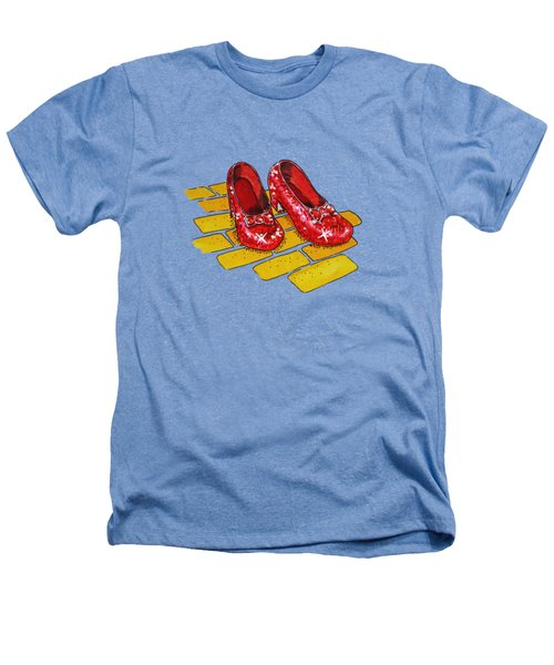 Wizard Of Oz Ruby Slippers Heathers T-Shirt by Irina Sztukowski