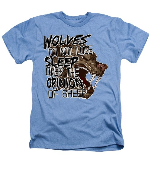 Wolves And Sheep Heathers T-Shirt by Michelle Murphy