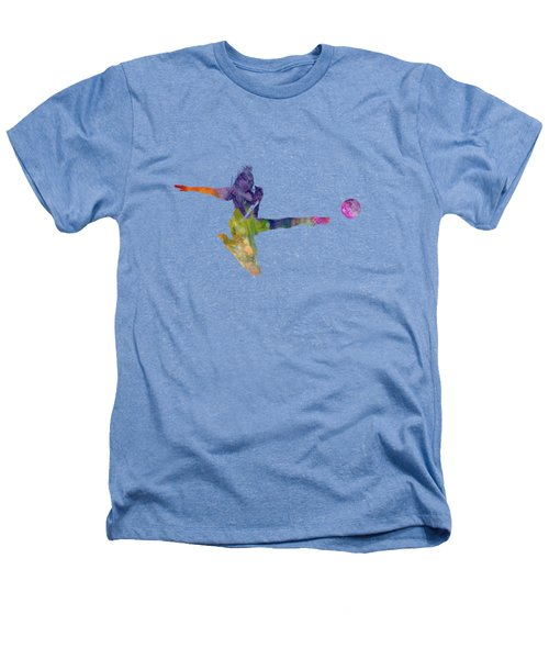 Woman Soccer Player 04 In Watercolor Heathers T-Shirt by Pablo Romero