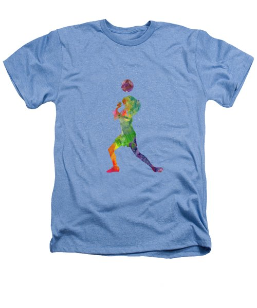 Woman Soccer Player 06 In Watercolor Heathers T-Shirt
