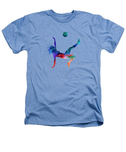 Woman Soccer Player 08 In Watercolor Heathers T-Shirt