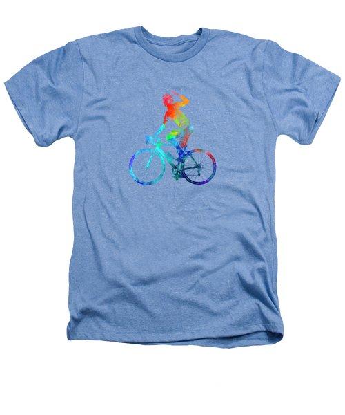 Woman Triathlon Cycling 03 Heathers T-Shirt