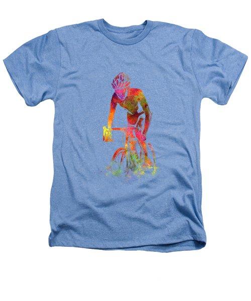 Woman Triathlon Cycling 04 Heathers T-Shirt