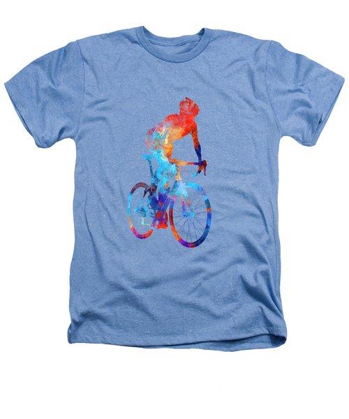 Woman Triathlon Cycling 06 Heathers T-Shirt by Pablo Romero