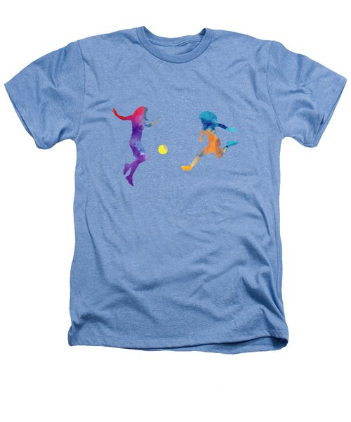 Women Soccer Players 01 In Watercolor Heathers T-Shirt