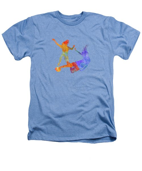 Women Soccer Players 02 In Watercolor Heathers T-Shirt