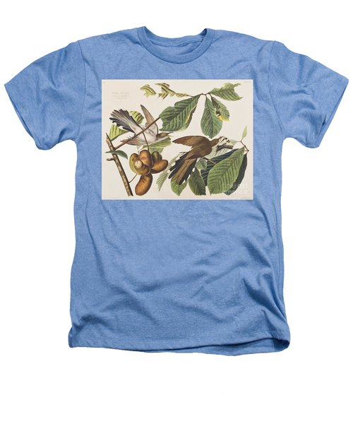 Yellow Billed Cuckoo Heathers T-Shirt by John James Audubon