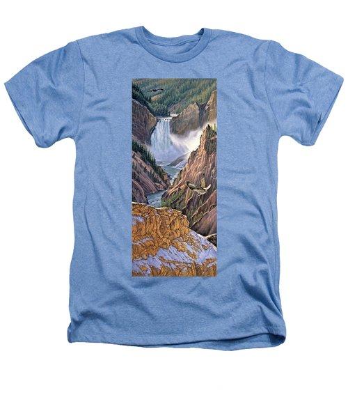 Yellowstone Canyon-osprey Heathers T-Shirt by Paul Krapf