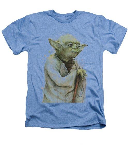 Yoda Watercolor Heathers T-Shirt by Olga Shvartsur