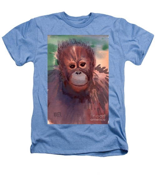 Young Orangutan Heathers T-Shirt by Donald Maier