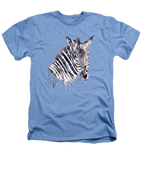 Zebra Head Heathers T-Shirt by Marian Voicu