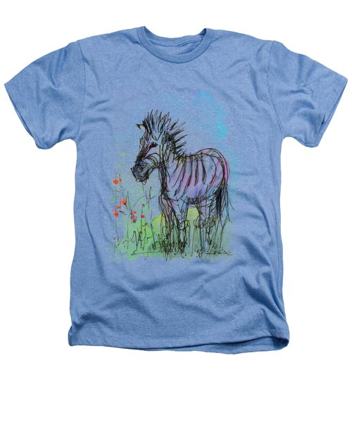 Zebra Painting Watercolor Sketch Heathers T-Shirt by Olga Shvartsur