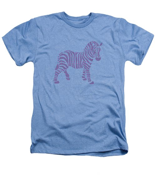 Zebra Stripes Pattern Heathers T-Shirt by Christina Rollo