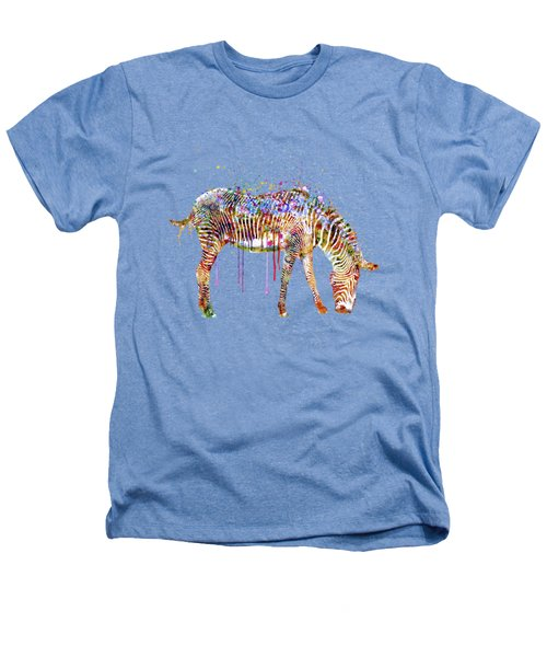 Zebra Watercolor Painting Heathers T-Shirt by Marian Voicu