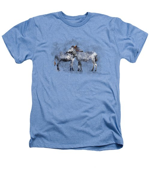 Zebras Heathers T-Shirt by Marlene Watson