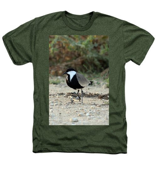 Spur-winged Plover And Chick Heathers T-Shirt