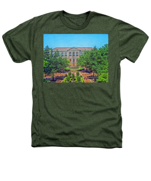 The Old Main - University Of Arkansas Heathers T-Shirt by Mountain Dreams