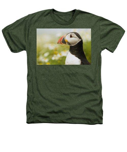 Atlantic Puffin In Breeding Plumage Heathers T-Shirt by Sebastian Kennerknecht