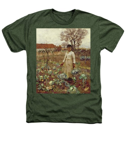 A Hinds Daughter, 1883 Oil On Canvas Heathers T-Shirt by Sir James Guthrie