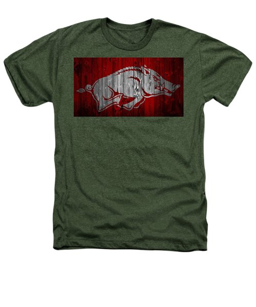 Arkansas Razorbacks Barn Door Heathers T-Shirt by Dan Sproul