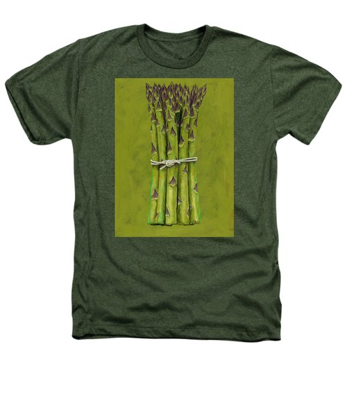 Asparagus Heathers T-Shirt by Brian James