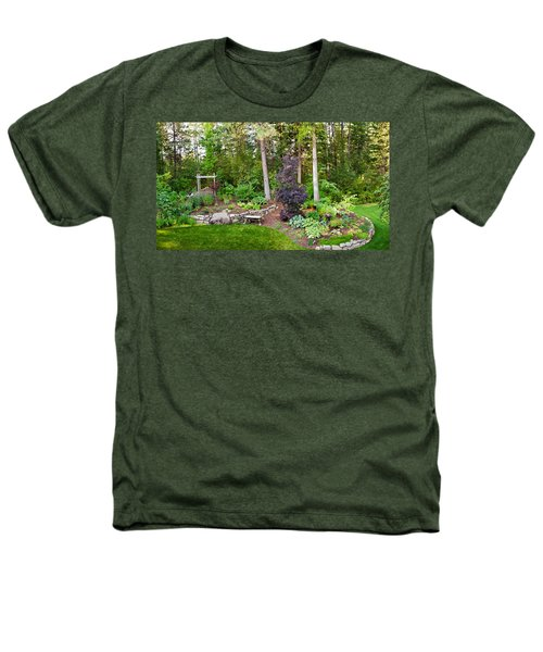 Backyard Garden In Loon Lake, Spokane Heathers T-Shirt by Panoramic Images