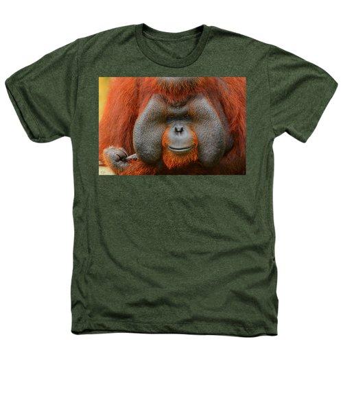 Bornean Orangutan Heathers T-Shirt by Lourry Legarde