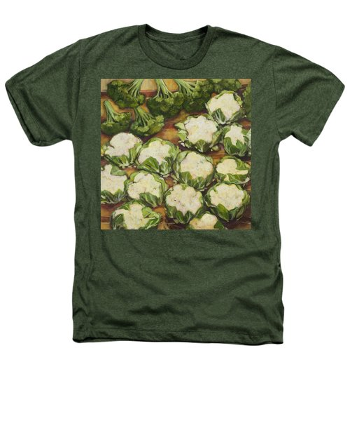Cauliflower March Heathers T-Shirt by Jen Norton