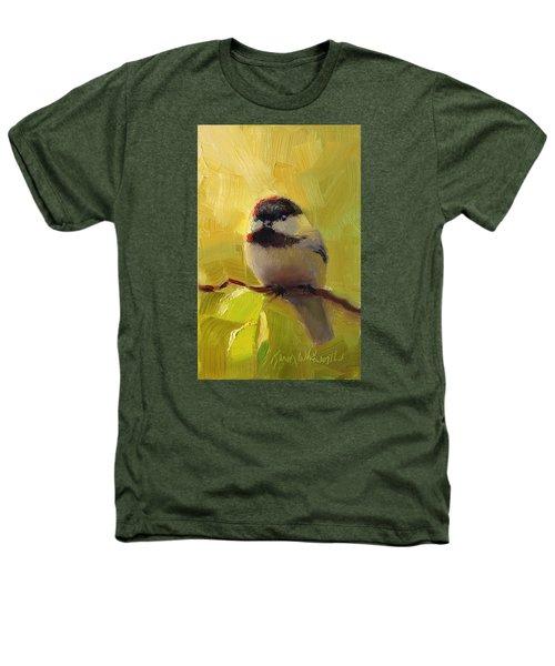 Chatty Chickadee - Cheeky Bird Heathers T-Shirt