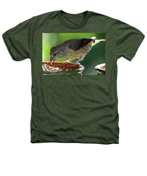 Crossbill Loxia Curvirostra Female Heathers T-Shirt