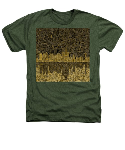 Dallas Skyline Abstract 3 Heathers T-Shirt