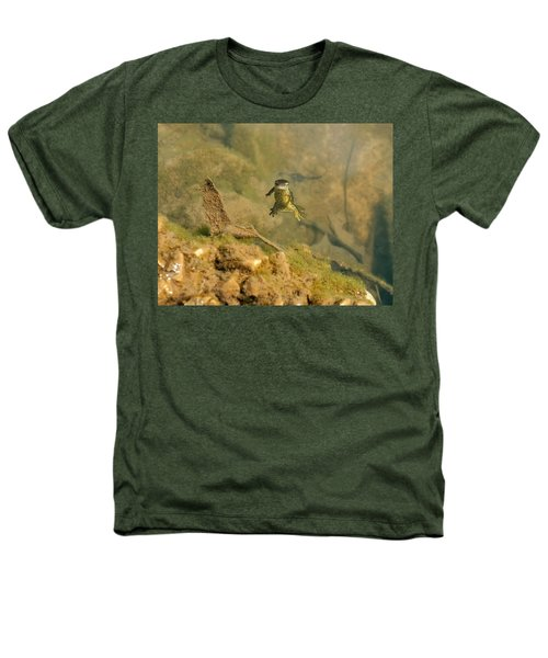 Eastern Newt In A Shallow Pool Of Water Heathers T-Shirt by Chris Flees
