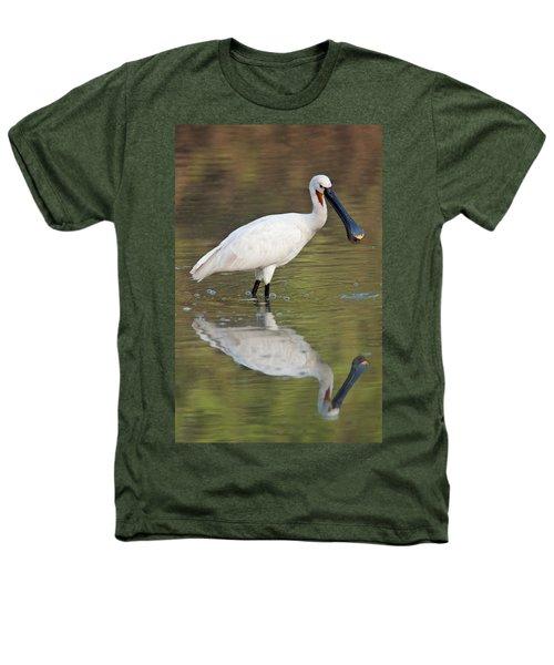 Eurasian Spoonbill Platalea Leucorodia Heathers T-Shirt