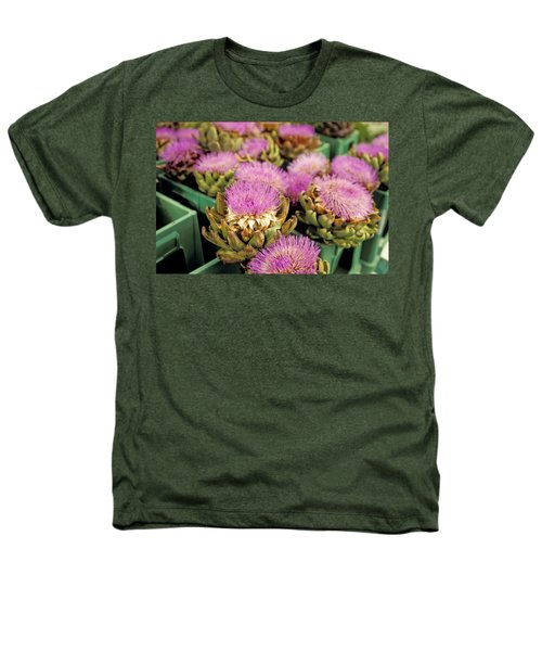 Germany Aachen Munsterplatz Artichoke Flowers Heathers T-Shirt by Anonymous